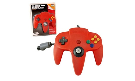 Wired Controller For Nintendo 64 System Red d7494e9e-0614-4ba3-aea3-cb8953137f7c