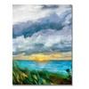 Michelle Calkins 'Sunset over the Lake II' Canvas Art