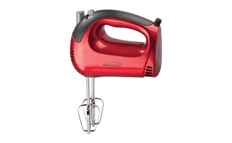 Brentwood Appliances HM-46 5-Speed Hand Mixer - Red photo