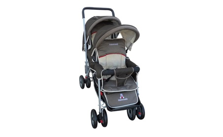 AmorosO 43230 Brown Deluxe Double Stroller 545a9d31-4b5a-4b2b-bd8b-8b712ad3dfc1