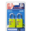 Safe Skies 3 Dial TSA-Recognized Lock Double Set, Lime Green