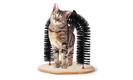 New Pet Cat Arch Self Groomer Massager Groom Toy Pet Cat Scratcher Toys 88175d35-2e11-4490-aa97-09671fc4a125