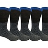 6 Pairs Crew Socks for Men, Cotton Athletic Sports Casual Sock by WSD