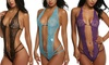 Women's Fashion Strap Transparent Lace Mesh Large Size Pajamas