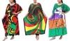 Women's Caftan Dresses Beautiful Prints Long Maxi Dress One Size Fits Most