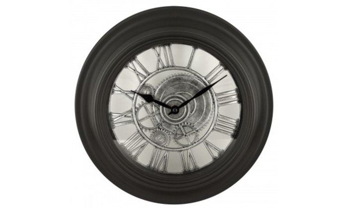 Black Gear Design Wall Clock Groupon