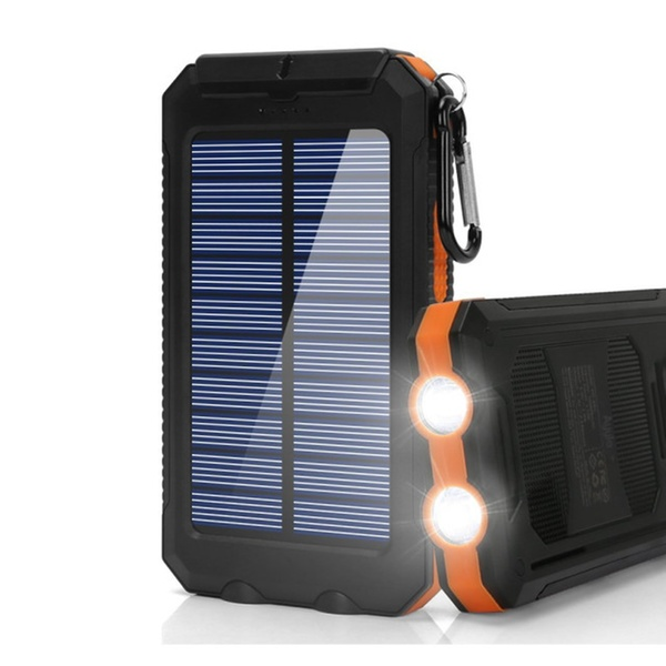 Ayyie Solar Charger, 10000mAh Portable External Backup Battery Pack