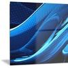 Liquid Blue Abstract Metal Wall Art 28x12