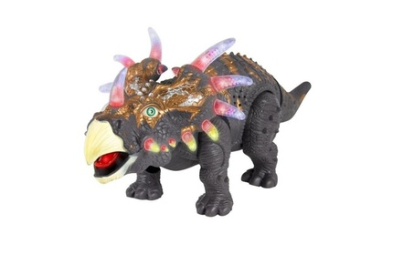 Walking Dinosaur Triceratops Toy Figure with Many Lights & Sounds e2e01464-ced2-4cdb-ac85-863ad49989ae