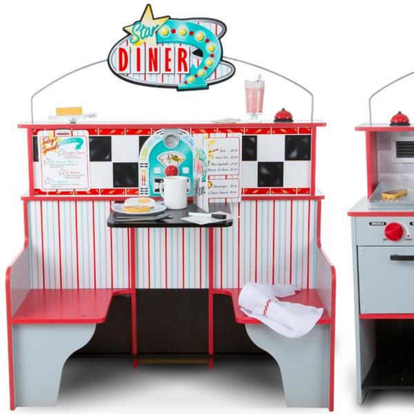 Melissa Doug Star Diner Pretend Play Set