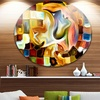 Way of Inner Paint' Abstract Metal Circle Wall Art
