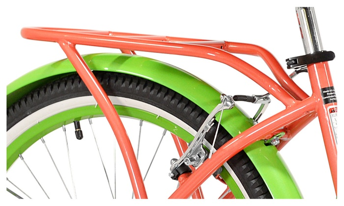 "Coral//Green 24/"" Girls Margaritaville Island Life Multi Speed Bicycle"
