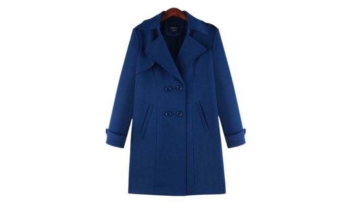 Women's Solid Casual Insulation Long Sleeve Wool Coat