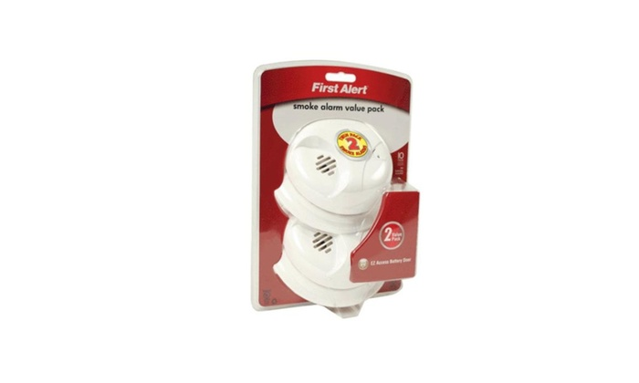 First Alert SA300CN-2 Smoke Alarm Twin Pack