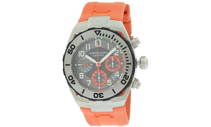 Hamilton Khaki Navy Sub Automatic Chronograph Rubber Mens Watch H78716983