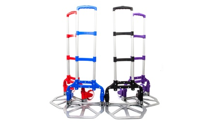 Personal Foldable 150 lb Capacity Aluminum Hand Truck Dolly