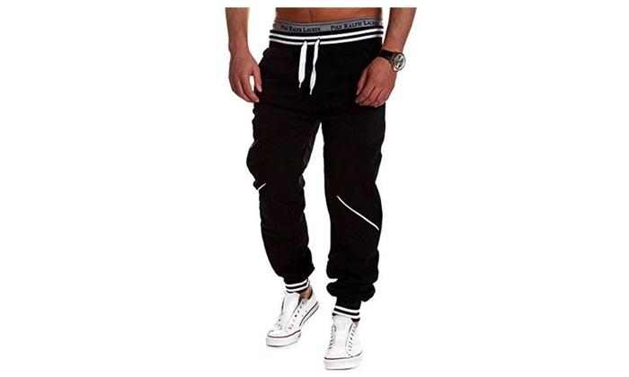 Men's Casual Baggy Hiphop Dance Jogger Sport Sweat Pants Trousers