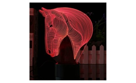 3D Horse Head 7 Color Changing LED Night Lamp Light Bedroom Gift a88aa8e9-2373-4782-bd20-14f92b86355b