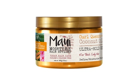 Maui Curl Quench & Coconut Oil Ultra-Hold Gel for Thick, Curly Hair, 12 oz