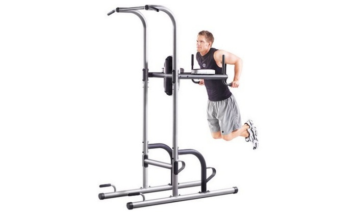 Gold's Gym XR 10 9 Power Tower with Push Up, Pull Up, and