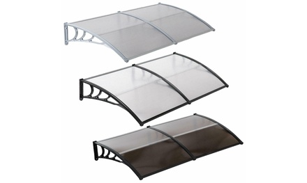 "80x40"" Door Window Outdoor Awning PC Hollow Sheet Sun Shade Cover Canopy Patio"