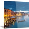Grand Canal at Night Venice Cityscape Metal Wall Art 28x12
