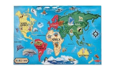 33 pcs New World Map Melissa and Doug Floor Kids Puzzle cbf68d49-b273-429d-86e7-fb2bceff8f3e