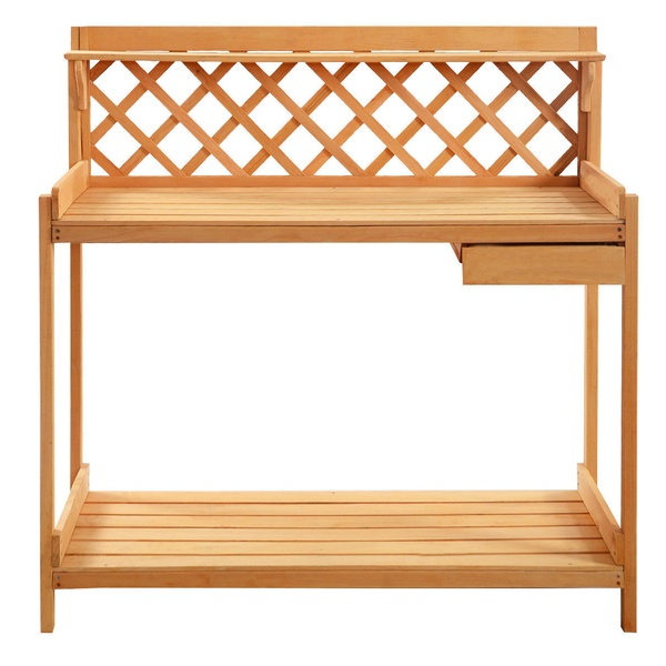 Amazing Wood Planter Potting Bench Outdoor Garden Planting Work Station Table Andrewgaddart Wooden Chair Designs For Living Room Andrewgaddartcom
