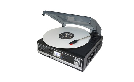 3-speed Stereo Turntable with 2 Built in Speakers Display & Bass Boost e13069e5-525e-4bb9-a744-b201bb414e10