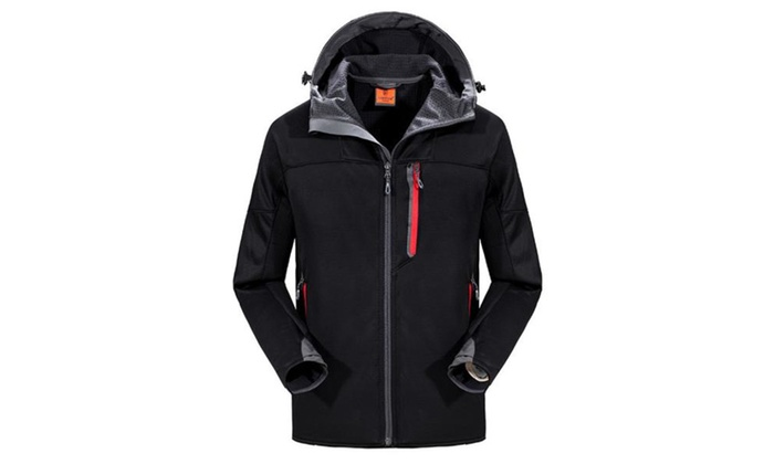 Men's Long Sleeve Zip Closure Simple Regular Fit Jackets