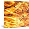 Yellow Sandstorm Metal Wall Art 28x12