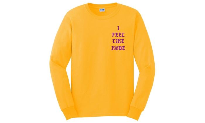 I Feel like Kobe Mamba Day Pablo MSG Long Sleeve T shirt  01c1cd998adf