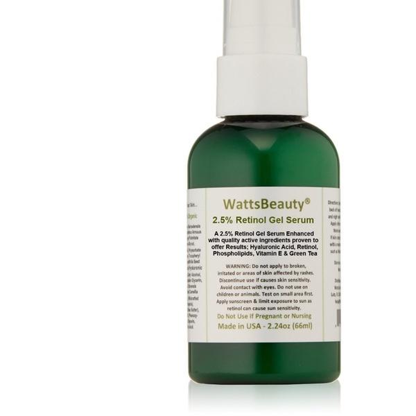 11845686c6be Watts Beauty Antiaging 2.5% Retinol Gel Serum Enhanced