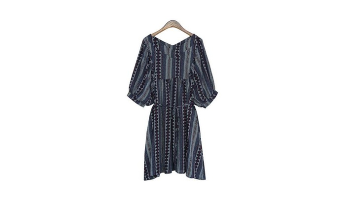 Women's Long Sleeve Solid Fit and Flare Simple Dresses