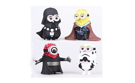 4PCS Minions Star Wars Darth Vader Maul Trooper Cos Action Figure Toy 99c80e91-f557-41a9-927c-6c4ab9a9ec96