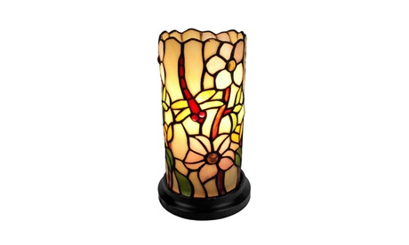 "AM091ACC Tiffany Style Dragonfly Mini Table Lamp 10"" Tall 00539560-599b-44d8-99a4-1face6f0f4f7"