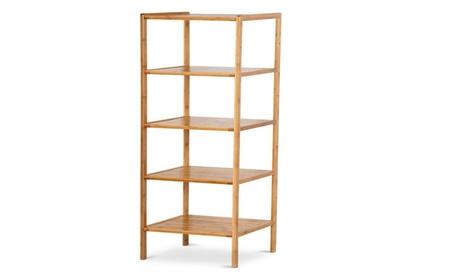 5-Tier Bamboo Bathroom Shelf Towel Rack Shelf Storage Rack Shelving fdce9c8b-7d2e-47fe-9e5e-771398e6efe3
