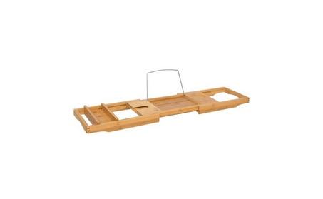 Bamboo Bathtub Caddy Shower Bathtub Tray Organizer 1beb6139-3772-402c-b986-2cb76487978e