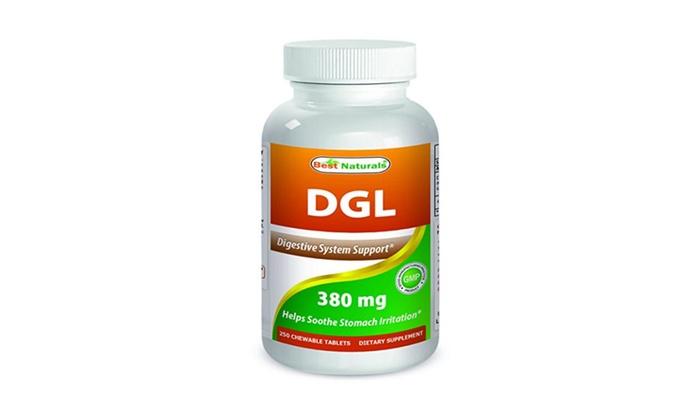 best naturals dgl chewable 380 mg 180 tablets groupon. Black Bedroom Furniture Sets. Home Design Ideas