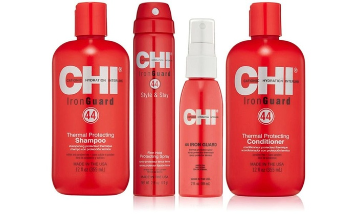 Chi 44 Iron Guard Thermal Protect System For Hair 4 Piece