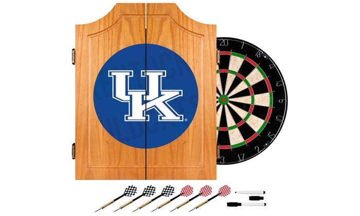University of Kentucky Wood Dart Cabinet Set Set