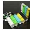9 LED Glow in Dark Rubber Coated Push Button Flashlights (5 pack)