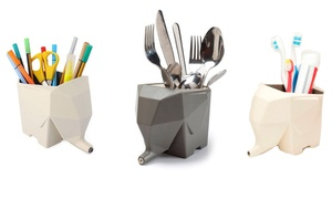 Elephant Cutlery Drainer and Holder or Toothbrush Holder