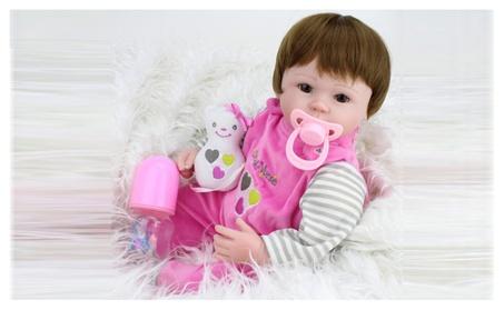 "18"" Handmade Reborn Baby Doll Realistic Silicone Vinyl Doll Girl 30956d7f-e2a3-488a-bdc1-ff5a3342bc82"
