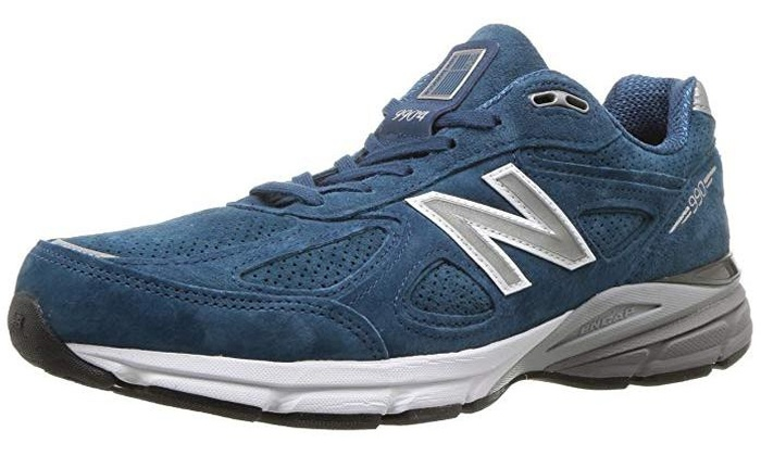 separation shoes 9479a 9906d New Balance Mens 990v4 Running Shoe - North Sea/White - 9 D