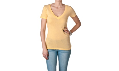 NLA Cotton Deep V Short Sleeve Tee, 3540 0c81dac1-7994-4dab-b9ca-6465448a3d6d