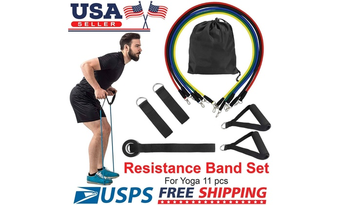 Up To 21 Off On 11 Pcs Resistance Exercise Ba Groupon Goods