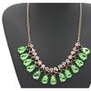 Gold Color Statement Gem Pendant Necklace for Women