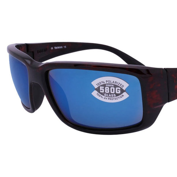 bc9940962ba0 Costa Del Mar Fantail TF 10 OBMGLP Tortoise / Blue Mirror 580G Glass    Groupon