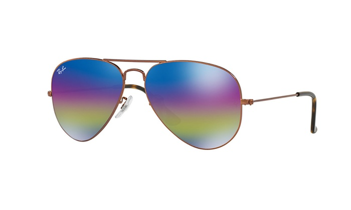 84d37f5f70 Up To 43% Off on Ray-Ban Rainbow Flash Aviator...